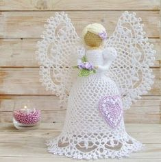 Captivating Crochet a Bodycon Dress Top Ideas. Dazzling Crochet a Bodycon Dress Top Ideas. Crochet Diy, Thread Crochet, Crochet Gifts, Hand Crochet, Crochet Christmas Ornaments, Christmas Crafts, Handmade Angels, Crochet Angels, Angel Crafts