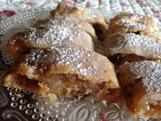 -Fashioned APRICOT COCONUT STRUDEL Bites * Cream cheese/butter pastry ...