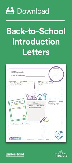 Back To School Forms  Teacher Intro Letter Templates Find Them