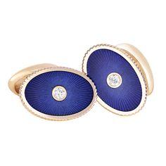 Fabergé Boris Blue Enamel Cufflinks #Fabergé #cufflinks