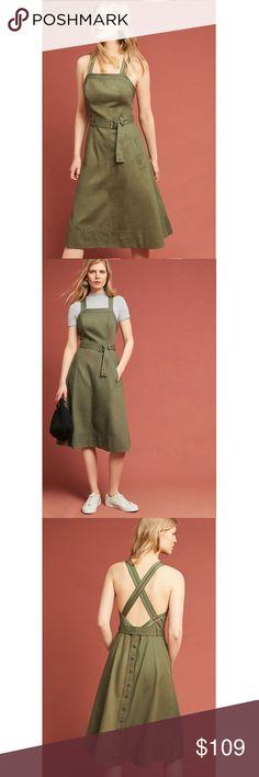 6bf9be5a3b26 HTF NWT ANTHROPOLOGIE Chino Apron Midi Dress HTF Brand new with tags NWT  ANTHROPOLOGIE Chino Apron Midi Dress. A classic and timeless outfit!