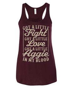 Texas A&M Aggies Ladies Maroon Got A Little Aggie Tank Top