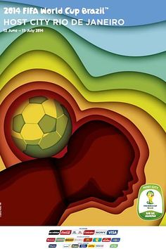 RIO DE JANEIRO FIFA World Cup 2014 FIFA | POSTER | Criatives | Blog Design, Inspirações, Tutoriais, Web Design