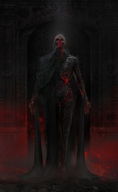 Morbid Fantasy Character concept by zt Liu<br> Dark Fantasy Art, Fantasy Artwork, Foto Fantasy, Fantasy Kunst, Fantasy Demon, Demon Artwork, Fantasy Warrior, Monster Art, Fantasy Monster