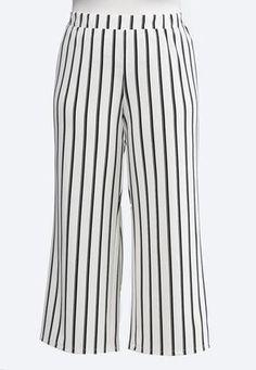 83d5060c962ce Cato Fashions Plus Size Striped Palazzo Pants #CatoFashions Cato Fashion  Plus Size, Wide Leg