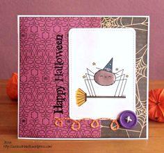 Halloween Card using 2 Cute Ink Spider Digi Stamp