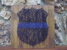 The Thin Blue Line String Art, Police Officer Badge, Wall Decor. $35.00, via Etsy.