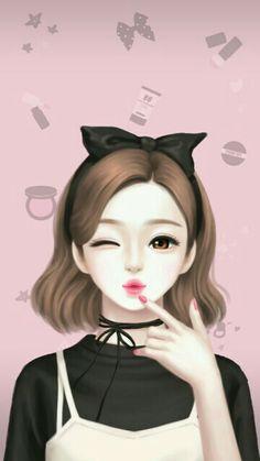 Enakei y iphone wallpaper korean, backgrounds girly, korean anime, anime korea, cute Cute Kawaii Girl, Cute Cartoon Girl, Korean Illustration, Illustration Girl, Anime Art Girl, Manga Girl, Anime Korea, Korean Anime, Backgrounds Girly