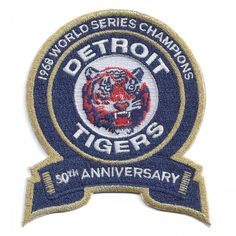 92ae958f5 Detroit Tigers 1968 World Series Champions 50th Anniversary Jersey Patch