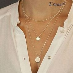 Eruner® Fashion (Sequins) Three Chain Alloy Pendant Necklace – USD $ 2.99