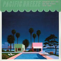 The cover of this city pop compilation album Pop Albums, Cd Album, Pop Rocks, Vaporwave, Album Covers, Breeze, Japanese, Culture, City