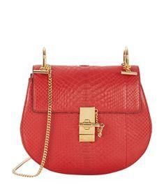 View the Small Drew Python Shoulder Bag