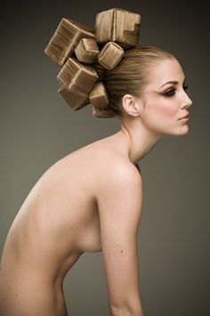 We're in awe of this hair-styling. Reminds us of caramel chocolates or something equally delicious! © Leonard Gren: Camilla Jönsson, Årets Frisör 2010, Avant Garde