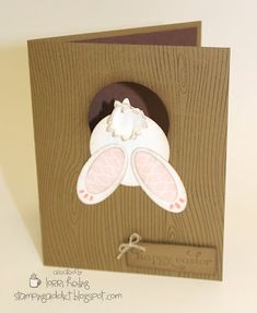 Easter Bunny Card with a cut out to see his face on the inside