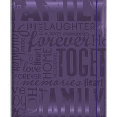 Embossed Gloss 'Family' Expressions Purple Photo Album (Holds 100 photos)