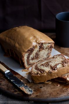 Mocha Swirl Bread with Espresso Glaze. Do you see that espresso glaze on top? Can I just slice the top of the bread off and have that for breakfast? YUM.