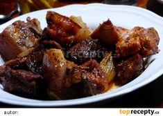 """""""Guláš"""" z grilu (v lorně) recept - TopRecepty.cz Krabi, Beef, Food, Meat, Essen, Meals, Yemek, Eten, Steak"""