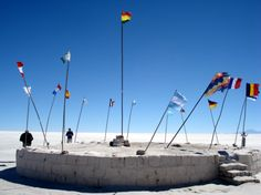 """Salar de Uyuni Flags    I'll fly my """"merah - putih"""" there :D"""