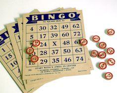 1936 Vintage Bingo Game Selchow & Righter Toys by CalloohCallay, $44.00