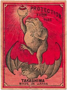 Japanese matchbox label, circa 1920.
