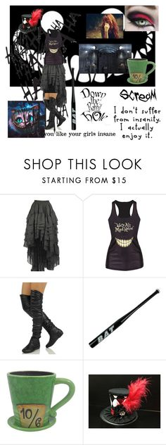 """Asylum break~MADDIE~"" by satandaughter ❤ liked on Polyvore featuring jared, BLVD Supply, Børn and Disney"