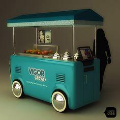 Coffee Food Truck, Mobile Food Cart, Bike Food, Food Cart Design, Bar Catering, Food Kiosk, Ice Cream Cart, Y Food, Kiosk Design