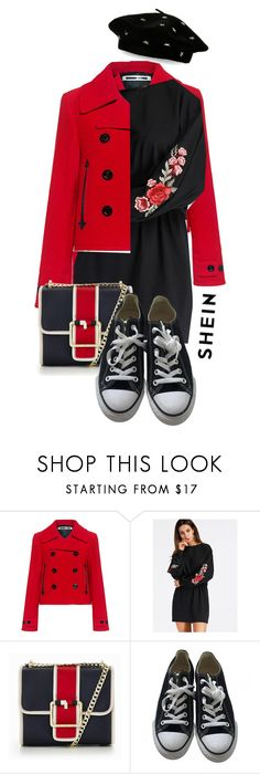"""""""Shein contest"""" by zeljomoja ❤ liked on Polyvore featuring McQ by Alexander McQueen, Tommy Hilfiger, Converse and Steve Madden"""