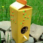 Crazy, Kooky, Crafts: Milk Carton Bird House