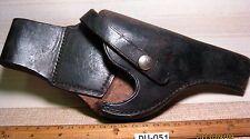 Old Left Hand Made Leather Gun Pistol Holster Black Front Brown Back MAKE OFFER $45.00 or Best Offer +$8.95 shipping