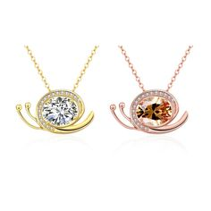 Snail#CZ#Necklace#Keep going forever https://wholesaler.alibaba.com/product-detail/SJCN134-Latest-Unique-Design-Brass-18K_60413304942.html