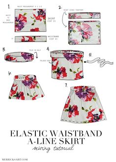 Style + Sewing for the Everyday Girl: A FLORAL MIDI SKIRT TUTORIAL by @mnerricksart