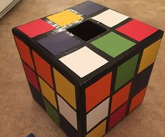 If this were a fully functional cube, it wouldn't work. Notice the green right next to green. That's why. Valentine Box, Cube, Toys, Crafts, Toy, Handmade Crafts, Gaming, Craft, Games
