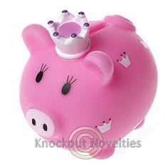 Little-Princess-Piggy-Bank-Pink-Crown-Pig-Money-Saving-Coins-Coin-Save-Plastic