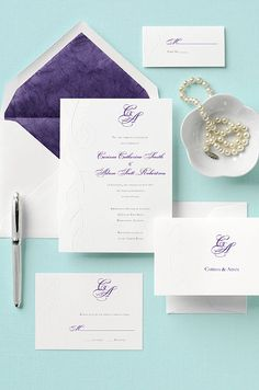Your invitation is the first sign of your wedding style: use printed goods to set the tone and excite your guests for what's to come.