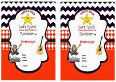 Rock Star Birthday Invitations – Birthday Printable