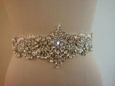 SALE - Wedding Belt, Bridal Belt, Sash Belt, Crystal Rhinestones & Pearls - Style B3000 on Etsy, $55.00