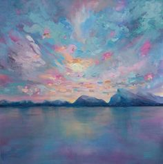 Melissa McKinnon, Contemporary Abstract Landscape Artist features big colorful paintings of Aspen & Birch Trees, Rocky Mountains and stunning views of the Canadian prairies, big skies and ocean beaches. Western Art.