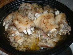Pomalý hrnec-úžasné vepřové koleno může být i Silvestrovské Multicooker, Crockpot, Slow Cooker, Pork, Food And Drink, Chicken, Meat, Cooking, Detail
