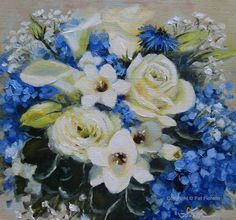 Bridal Bouquet Paintings by Pat Fiorello