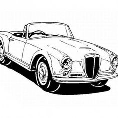 Who Has Made A Classic Car Coloring Book For Kids