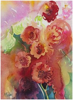 """""""Reds"""" watercolor by Angela Fehr"""