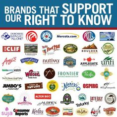 "Support the brands that support your right to know! We are often asked ""who uses GMOs"" and ""who supports GMO labeling"" and we want you to have a very CLEAR explanation of current ""right to know"" supporters. Please share this information far and wide and support To get a more detailed dollar amount spent including parent brands and organic ""traitor"" brands visit The Cornucopia Institute here: http://bit.ly/1CIQDXO"