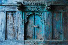 Blue door. Rajasthan, India