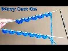 Crochet & Knitting Beautiful Wavy Cast on Technique - YouTube