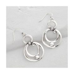 Cost Plus World Market Silver Swirl Drop Earrings ($13) ❤ liked on Polyvore featuring jewelry, earrings, silver, cost plus world market, drop earrings, evening jewelry, evening earrings and swirl earrings