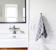 Your bathroom will have a complete look where every small space ties in with the next when you use Manhattan Subway tile from South Cypress. Shop our seemingly endless variety on our online showroom. Bathroom Inspiration, Design Inspiration, Hexagon Tiles, Dream Bathrooms, Subway Tile, Tile Design, Bathroom Hooks, Manhattan, Small Spaces