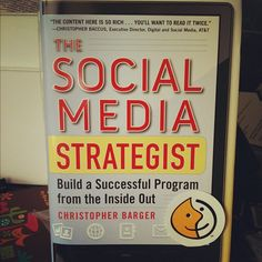 The Social Media Strategist book by Christopher Barger. #swippd