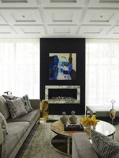 Contemporary House In A Palette Of Predominantly Black And White