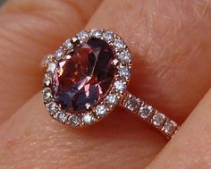 Precision Cut Oval Peachy Pink Spinel in Rose by JuliaBJewelry