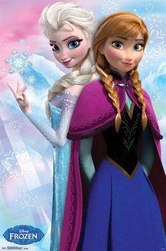 frozen elsa | Frozen Elsa and Anna Poster